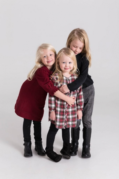 Three sisters in studio for portraits