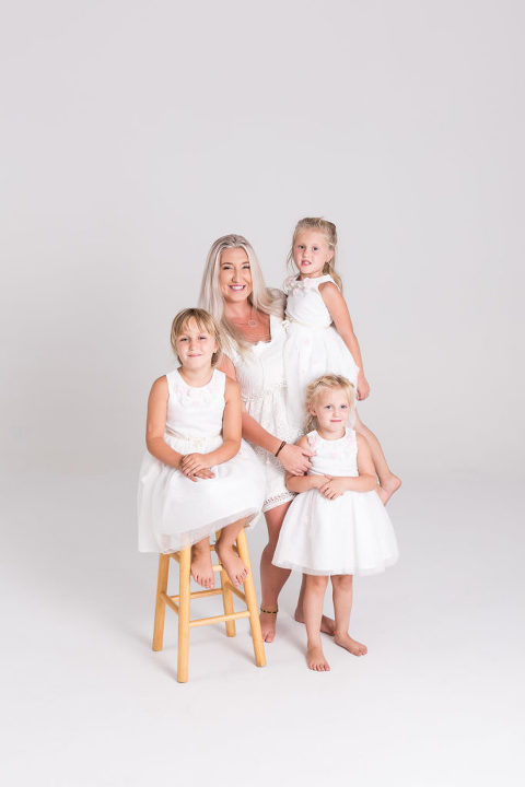 Family portrait in studio